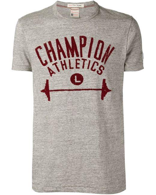 Champion | Мужская Серая Футболка С Логотипом Todd Snyder X