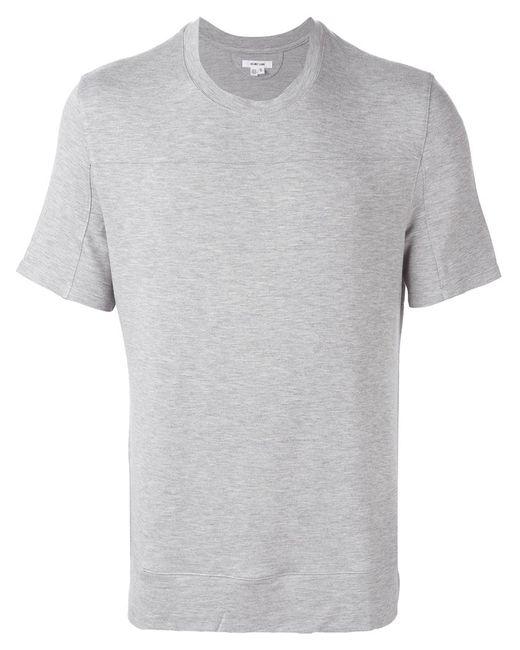 Helmut Lang   Мужское Серый Round Neck T-Shirt