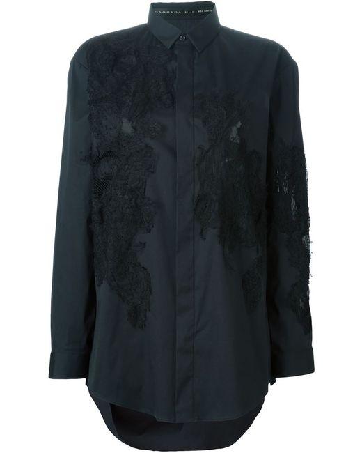 Barbara Bui   Женская Чёрная Рубашка С Кружевными Панелями