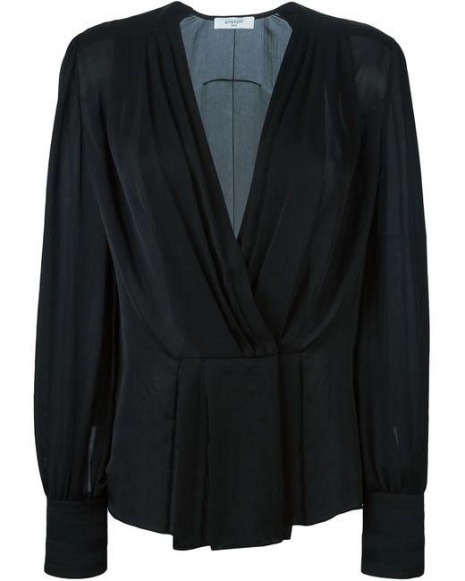 Givenchy | Женское Чёрный Sheer Pleated Blouse