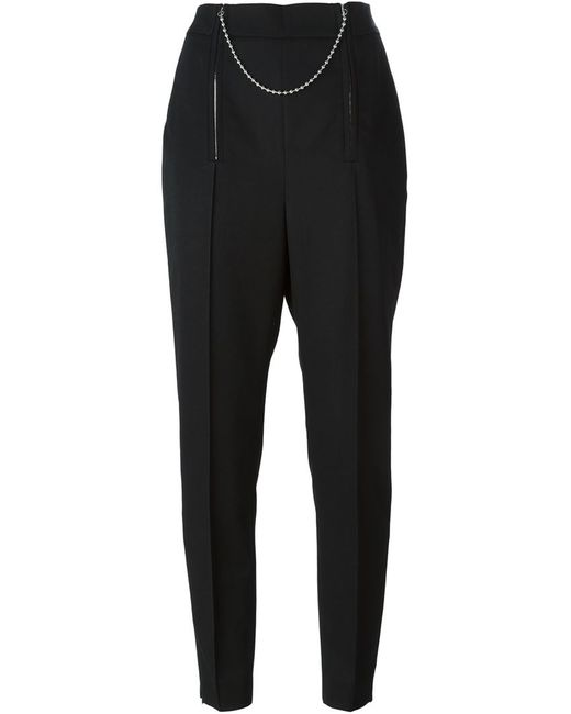 Alexander Wang | Чёрный Chain Detailed Cropped Trousers