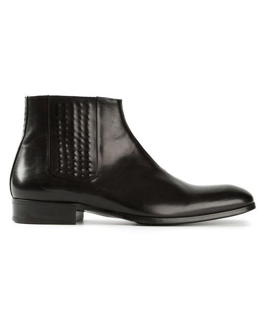 Alexander McQueen | Чёрный Covered Stud Detail Ankle Boots