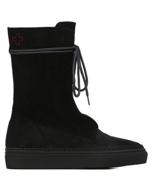 A.F.Vandevorst | Чёрный Lace Up Flat Boots