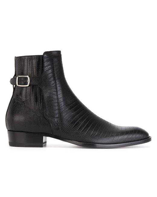 Saint Laurent | Мужские Чёрные Ботинки По Щиколотку Hedi