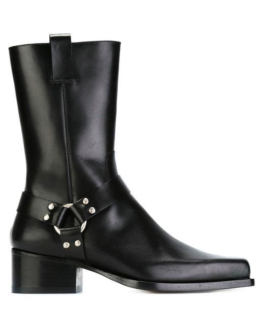 Dsquared2 | Мужские Чёрные Ботинки С Квадратным Носком