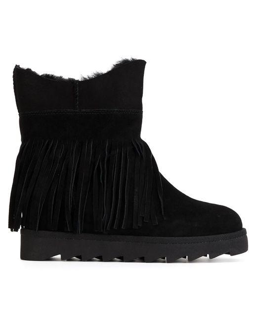 Ash | Чёрный Fringed Boots