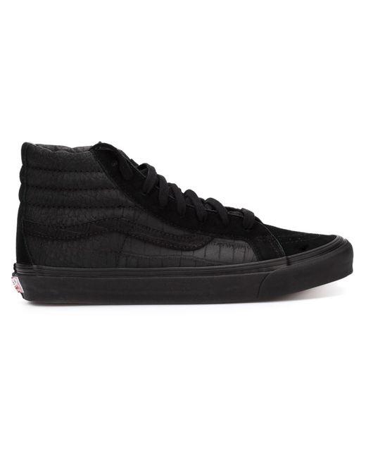 Vans | Чёрные Хайтопы Sk8-Hi