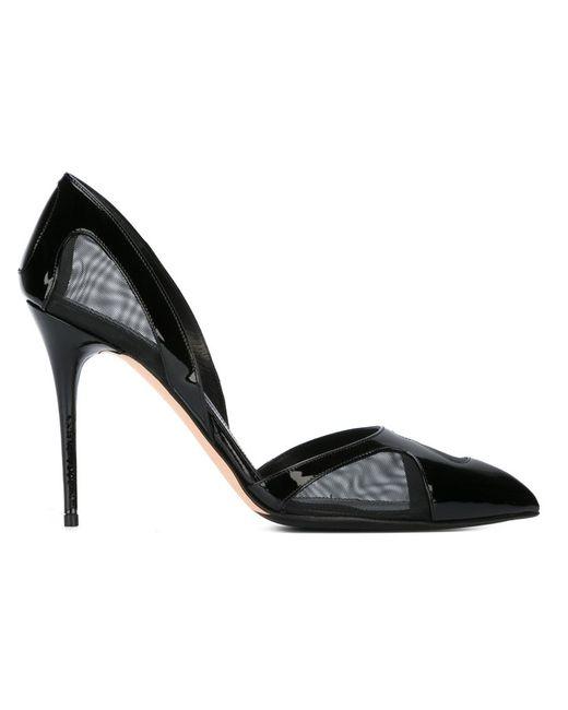 Alexander McQueen   Женские Чёрные Туфли С Сетчатыми Панелями