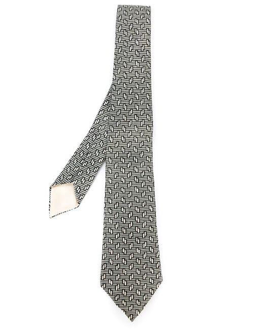 Hermès Vintage | Мужское Серый Geometric Print Tie
