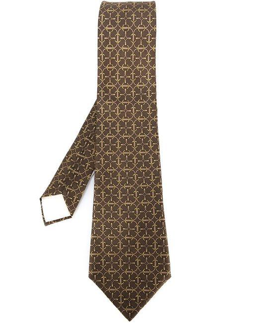 Hermès Vintage | Мужское Коричневый Chain Motif Tie