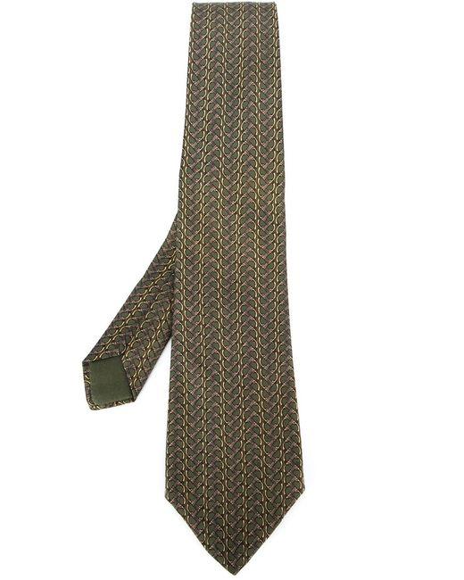 Hermès Vintage | Мужское Зелёный Chain Motif Tie