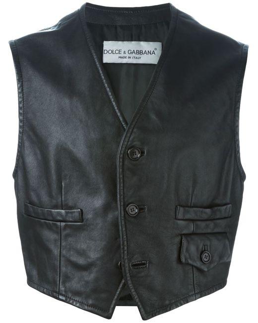Dolce & Gabbana   Мужское Чёрный Buttoned Gilet