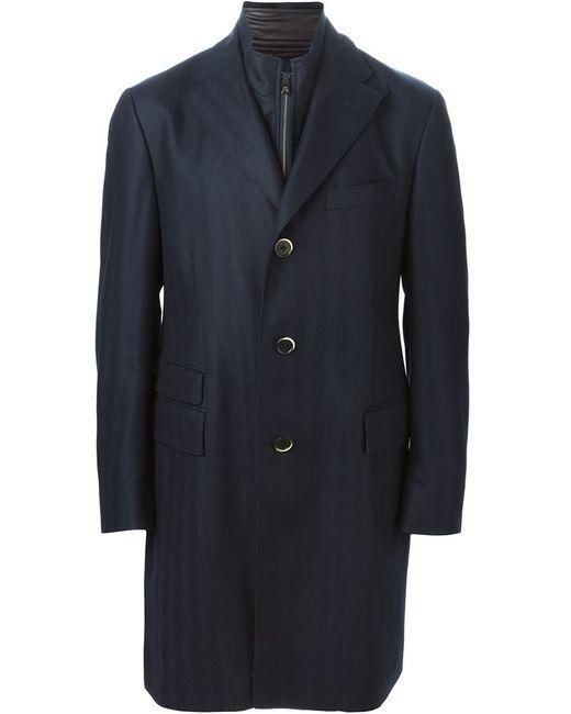 Corneliani | Мужское Чёрное Однобортное Пальто