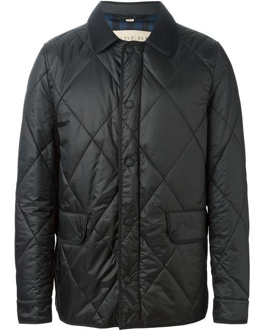 Burberry Brit | Мужская Чёрная Стеганая Куртка
