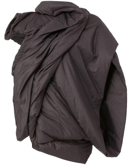 Rick Owens | Женское Чёрный Padded Draped Jacket