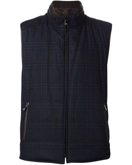 Corneliani | Мужское Синий Reversible Zip Vest