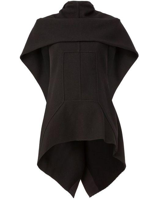 Rick Owens   Женское Чёрный High Low Knit Top