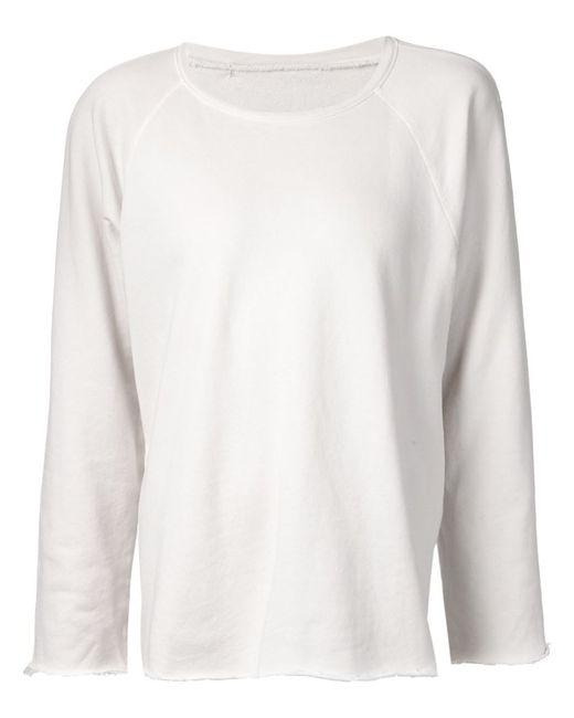Raquel Allegra | Женское Серый Frayed Edges Sweatshirt
