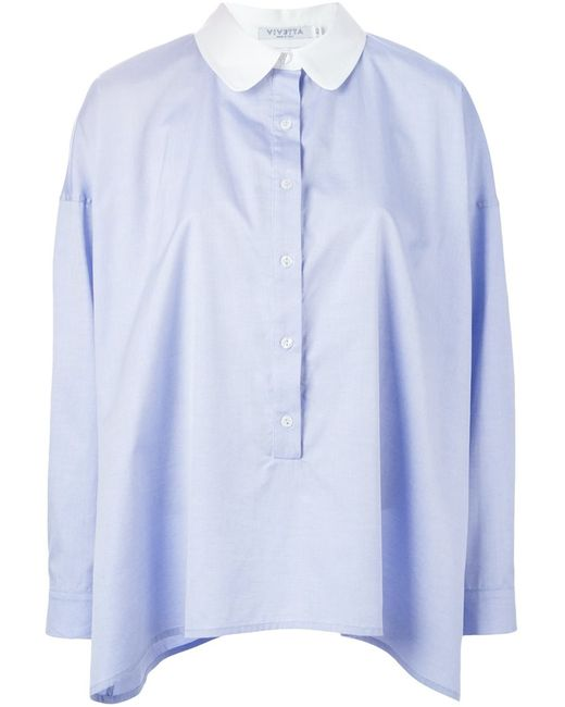 Vivetta   Женская Синяя Рубашка Marquez