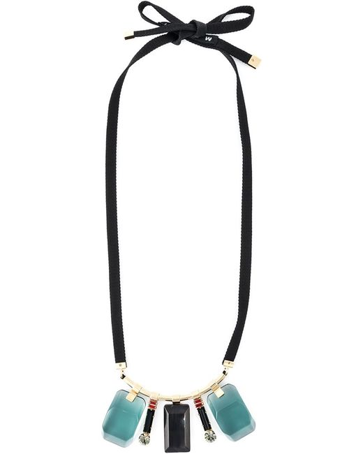 Marni | Женское Многоцветное Ожерелье С Камнями