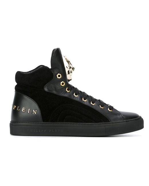 Philipp Plein | Чёрный On Hi-Top Sneakers