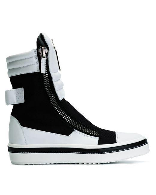 Giuseppe Zanotti Design | Чёрный Colour Block Hi-Top Sneakers