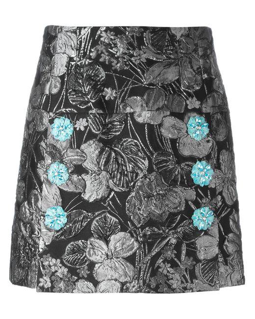 Dolce & Gabbana   Женская Чёрная Жаккардовая Юбка С Металлическим Отблеском