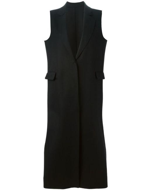 MSGM | Женское Чёрный Long Sleeveless Coat