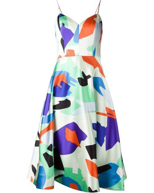 NOVIS | Женское Белое Расклешенное Платье На Тонких Лямках