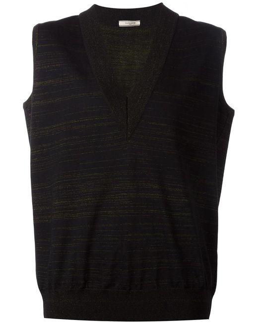 Bouchra Jarrar | Женское Чёрный V Neck Striped Vest