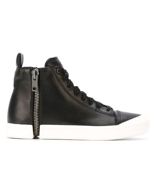 Diesel | Чёрный Hi-Top Lace-Up Sneakers