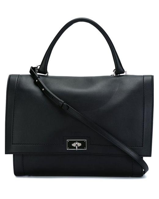Givenchy | Женская Чёрная Сумка На Плечо Shark