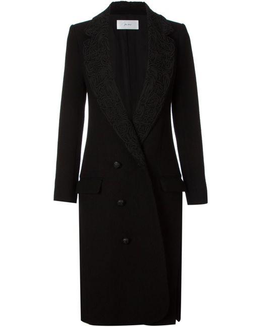 Julien David | Женское Чёрный Brocade Collar Coat