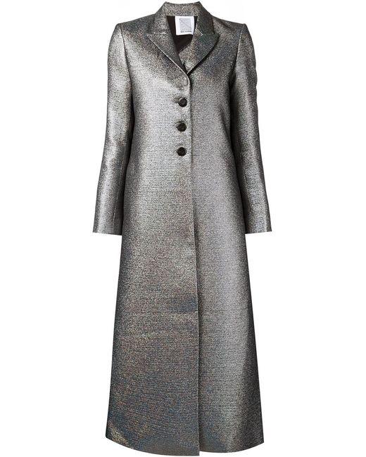Rosie Assoulin | Женское Серебристое Удлиненное Пальто А-Силуэта