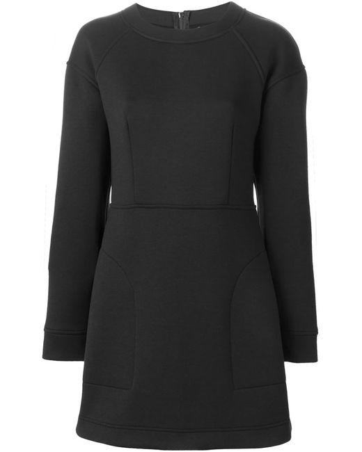 DKNY | Женское Чёрное Платье-Толстовка