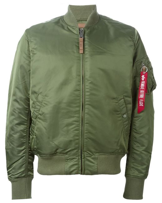 Alpha Industries   Мужская Зелёная Куртка-Бомбер