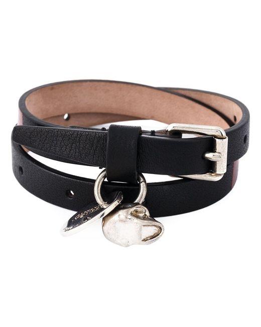 Alexander McQueen   Мужское Чёрный Wrap Around Skull Bracelet