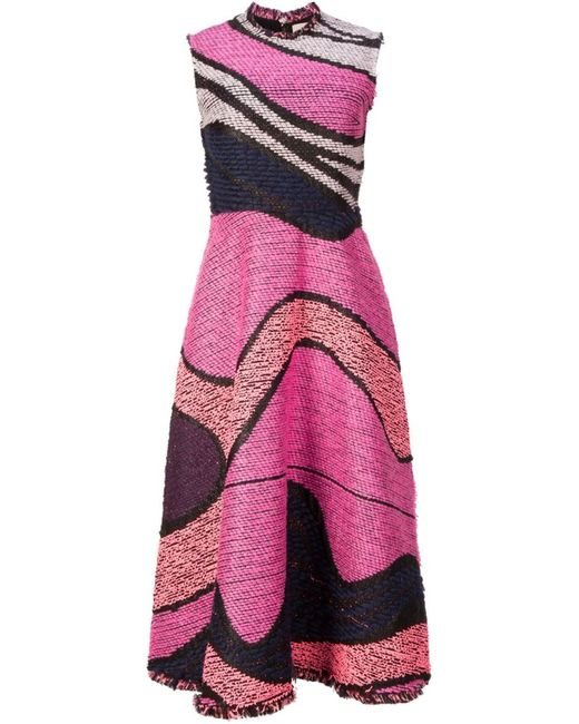 ROKSANDA   Женское Розовый Embroidered Flared Dress