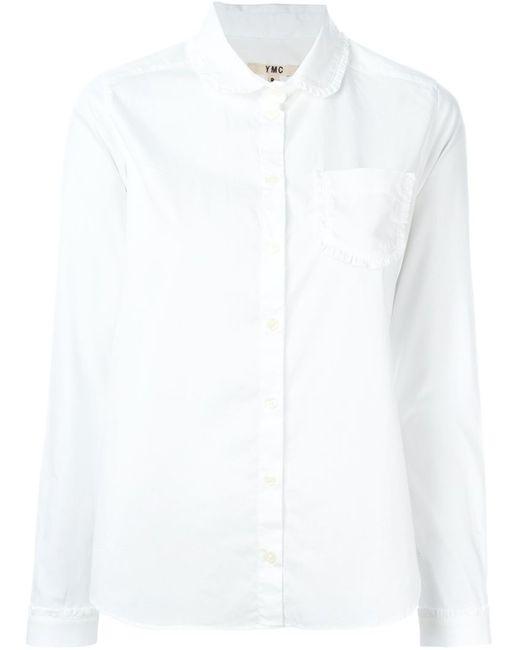YMC | Женская Белая Рубашка С Воротником Питер-Пэн
