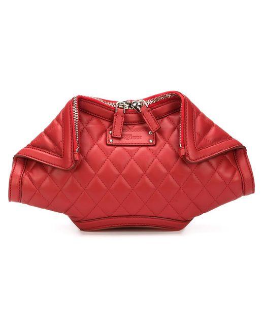 Alexander McQueen | Женский Красный Стеганый Клатч De Manta