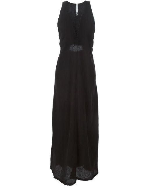 KITX   Женское Чёрное Длтинное Платье Без Рукавов