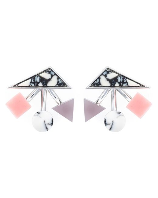Eshvi   Женское Розовый Geometric Shapes Earrings
