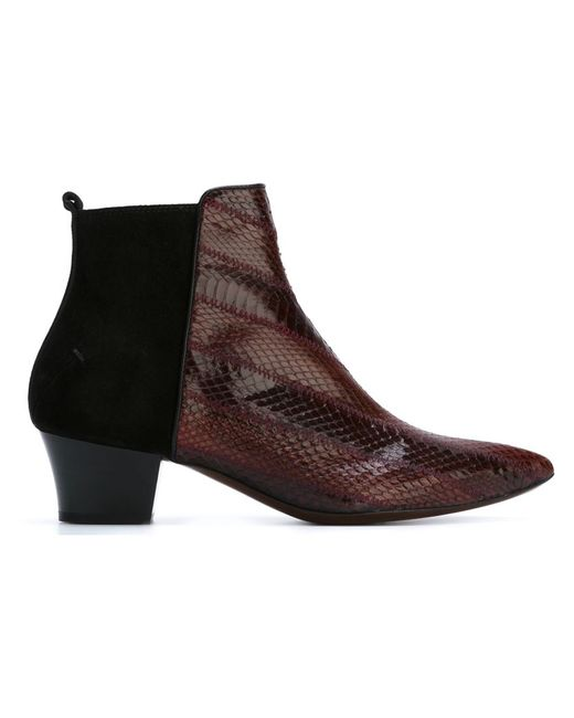Costume National | Женское Красный Pointed Toe Ankle Boots