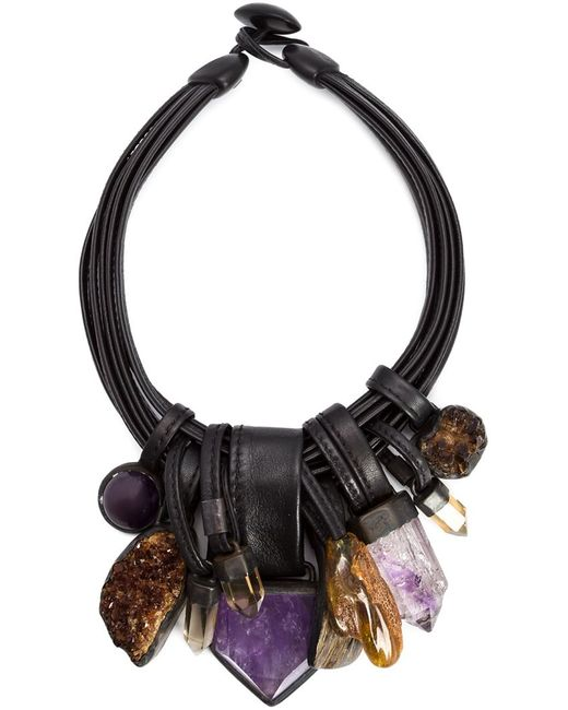 MONIES | Женское Коричневый Stone And Horn Necklace
