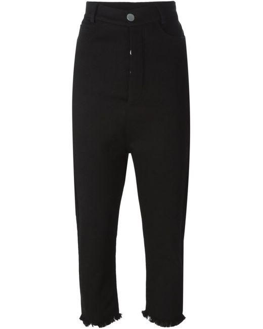 Pas Du Tout | Женское Чёрный Frayed Hem Cropped Trousers