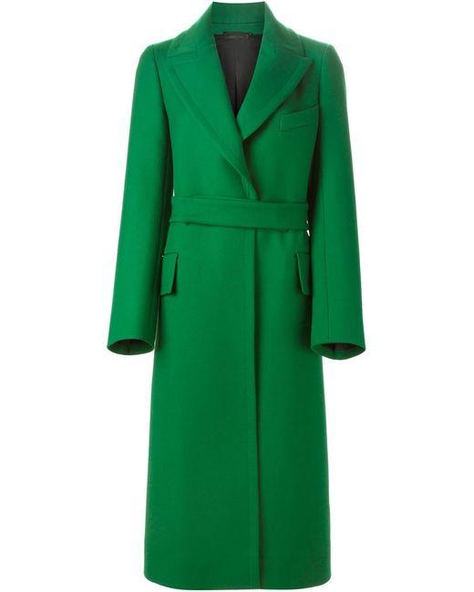 Jil Sander   Женское Зелёный Belted Coat
