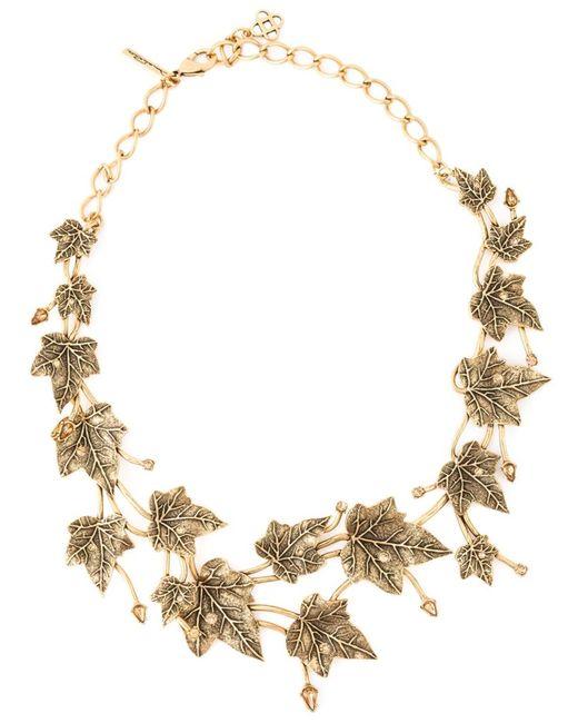 Oscar de la Renta | Женское Серебристый Ivy Leaves Necklace