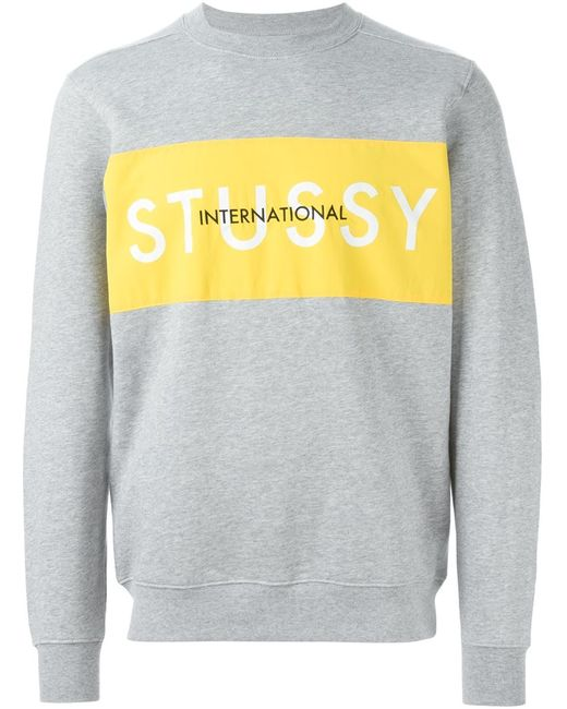 Stussy | Мужское Серый Logo Patch Sweatshirt