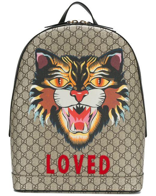679c1b5af18 Мужское Красный Gg Supreme Tiger Embroidered Backpack Gucci 1523535404