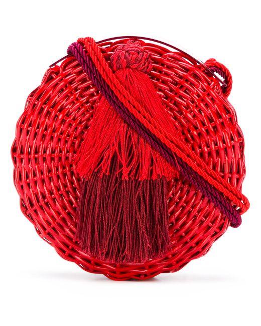 bcdcc7f37023 Женская Красная Круглая Сумка На Плечо С Кисточкой WAI WAI 11998003578